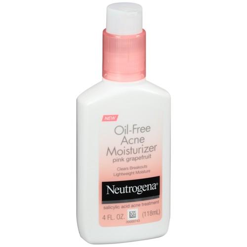 Neutrogena Oil-Free Acne Moisturizer, Pink Grapefruit, 4 Oz.