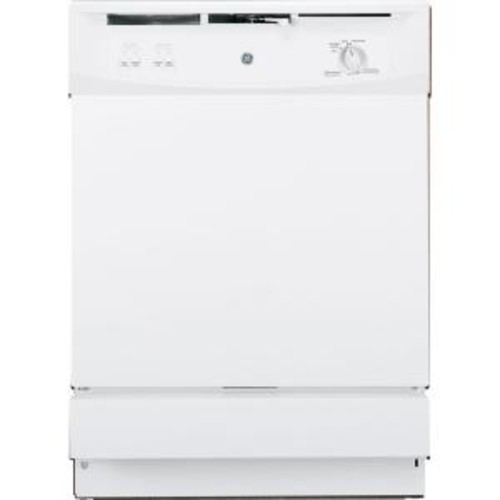 GE Front Control Under-the-Sink Dishwasher in White