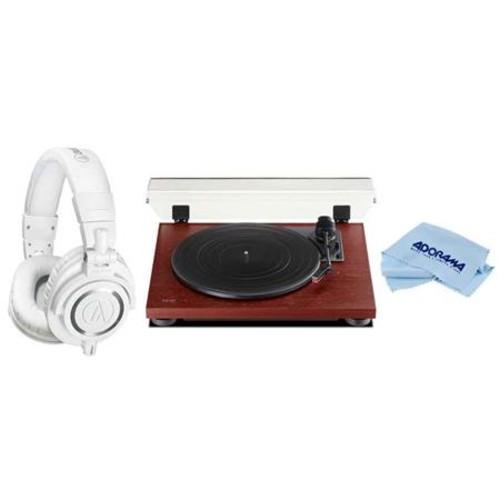 TEAC TN-100 Belt-Drive Turntable with Audio-Technica ATH-M50x Pro Headphone TN-100-CH A