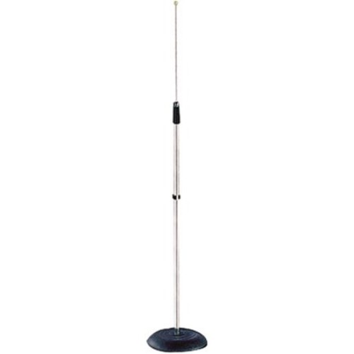 Pyle Compact Base Black Microphone Stand - Mic Holder Adjustable Height from 33.5