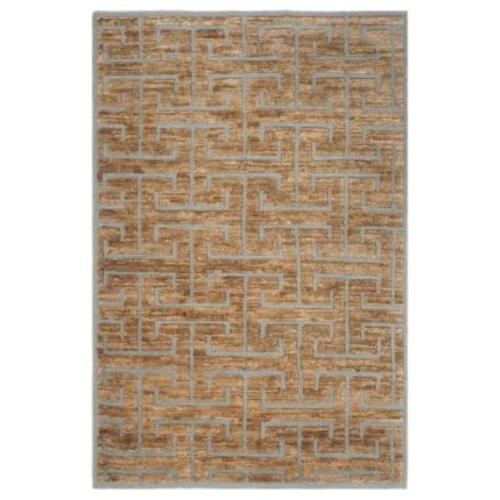 Safavieh Amherst Collection AMT424R Dark Grey and Beige Indoor/ Outdoor Area Rug (8' x 10')