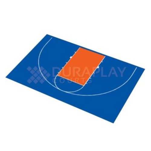 DuraPlay 45 ft. 6 in. x 29 ft. 7 in. Half Court Basketball Kit