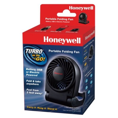 Honeywell Turbo On The Go USB/Battery Powered Fan, Black | PJP Marketplace