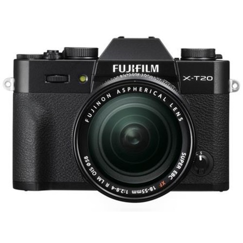 Fujifilm X-T20 Mirrorless Camera w/XF 18-55mm F2.8-4 R Lens Black W/Free Acc Kit