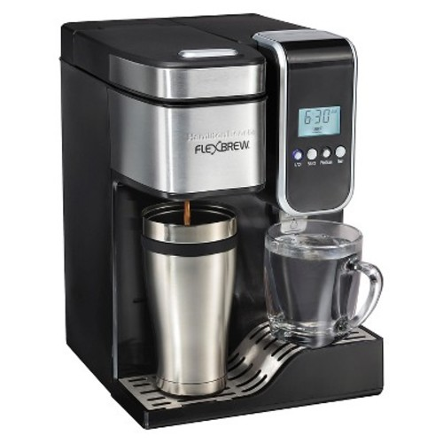 Hamilton Beach FlexBrew Programmable Single-Serve Coffee Maker with Hot Water Dispenser - Black - 49988