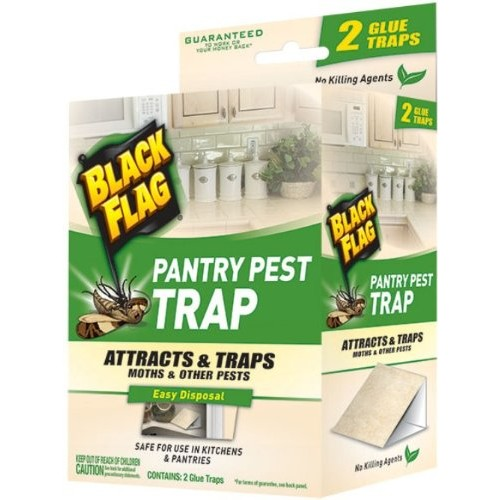 Black Flag 11038 Pantry Pest Trap, 2-Count, Pack of 1 [Pack of 1]