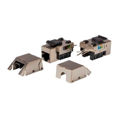 Cat5e RJ-45 FTP 90-Degree Shielded Keystone Jack, 110 IDC