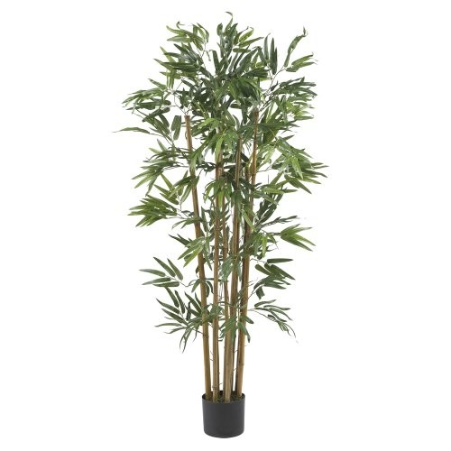 Nearly Natural 5280 Multi Bambusa Bamboo Silk Tree, 4-Feet, Green: Home & Kitchen [Green, 30 diam. x 48H in.]