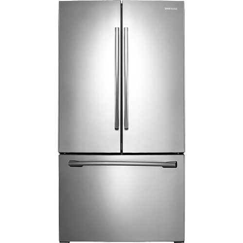 Samsung - 25.5 Cu. Ft. French Door Refrigerator with Filtered Ice Maker - Stainless Steel