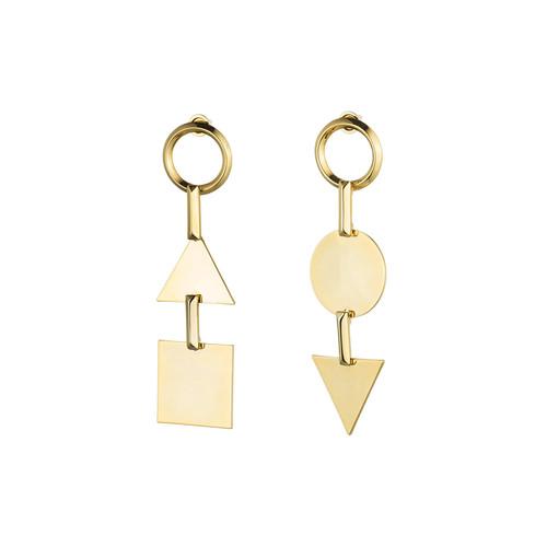 Mismatched Token Drop Earrings