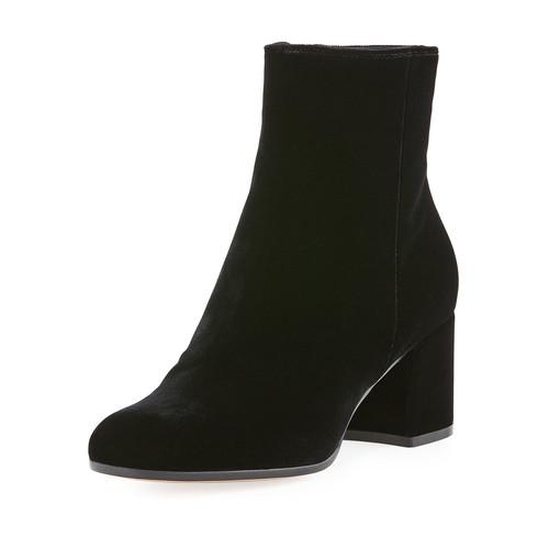 GIANVITO ROSSI Velvet 60Mm Block-Heel Ankle Boot