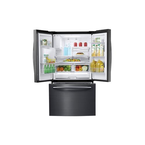 Samsung RF263BEAESG 25 cu.ft. French Door Refrigerator w/Water Dispenser-Black Stainless