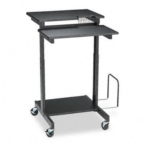 Balt 85052 Web A/V Stand-Up Workstation, 34w x 31d x 44-1/2h, Black Laminate Top