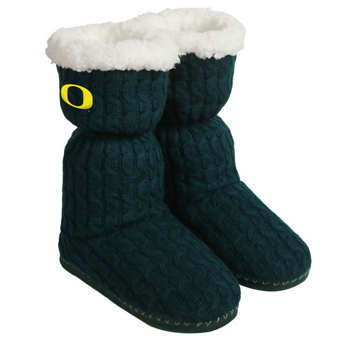 NCAA Womens Knit Boots - Oregon Ducks