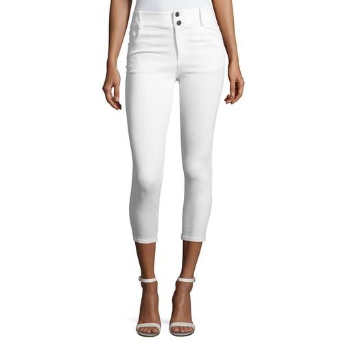 ALICE + OLIVIA Quinn Cropped Skinny Jeans, White