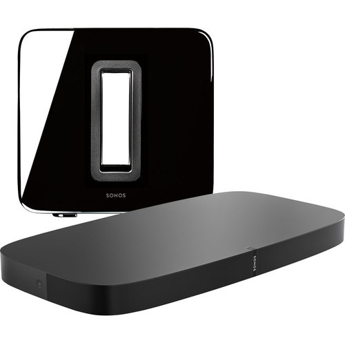 Sonos - PLAYBASE (Black) & SUB (Black) Package