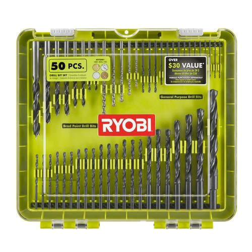 Ryobi Drilling Kit (50-Piece) with Carrying Case