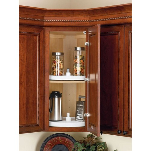 Rev-A-Shelf 26 in. H x 24 in. W x 24 in. D White Value Line Full Circle Lazy Susan 2-Shelf Set