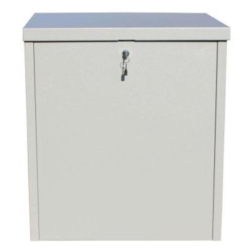 QualArc ParcelChest Textured Gray Ground Mount Locking Parcel Box