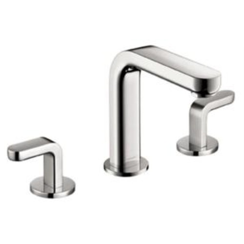 Hansgrohe Metris S 8 in. Widespread 2-Handle Mid-Arc Bathroom Faucet in Chrome