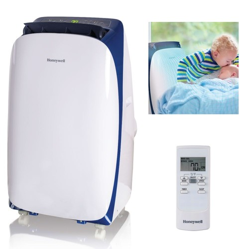 Honeywell HL Series 14,000 BTU Portable Air Conditioner with Remote Control, White/Blue
