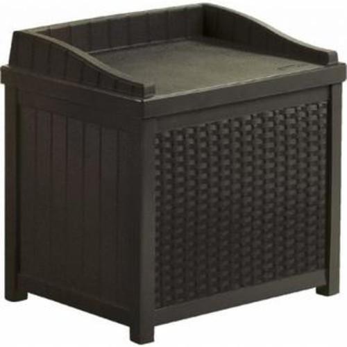 SUNCAST CORP. Suncast Java Resin Wicker Storage Bench