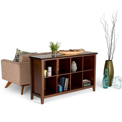 Simpli Home Artisan Medium Auburn Brown Storage Console Table