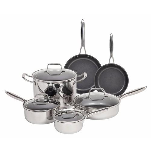 IRIS 10 Piece Stainless Steel Cookware Set