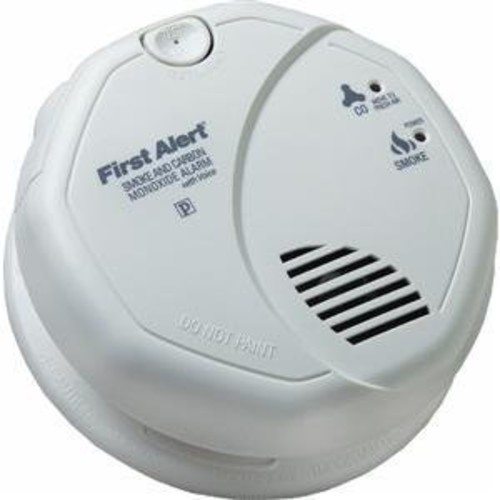 First Alert SC7010BV Hardwired Talking Photoelectric Smoke and Carbon Monoxide Alarm [1 Pack]