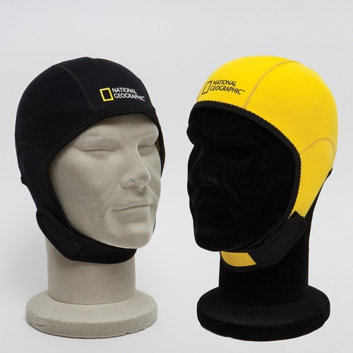 National Geographic Snorkeler Snorkeler Reversible Beanie Hood Black to Yellow, SM