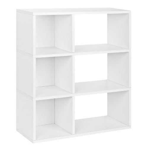 Way Basics 3-Shelf Sutton Bookcase - Eco Cubby, Natural White - Formaldehyde Free - Lifetime Guarantee