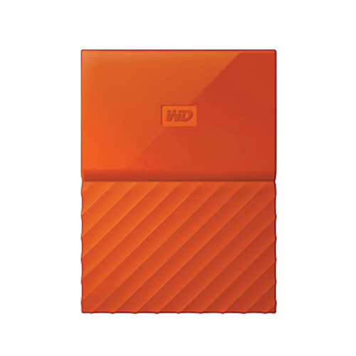 WD My Passport 4TB Portable External Hard Drive, Orange