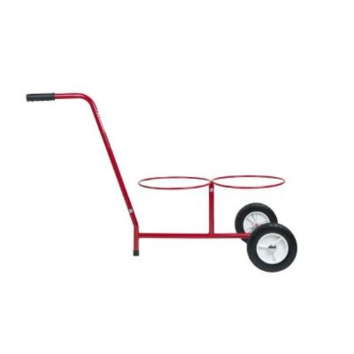 Bucket Buddy 5 Gal. Dual Bucket Steel All-Purpose Cart in Red