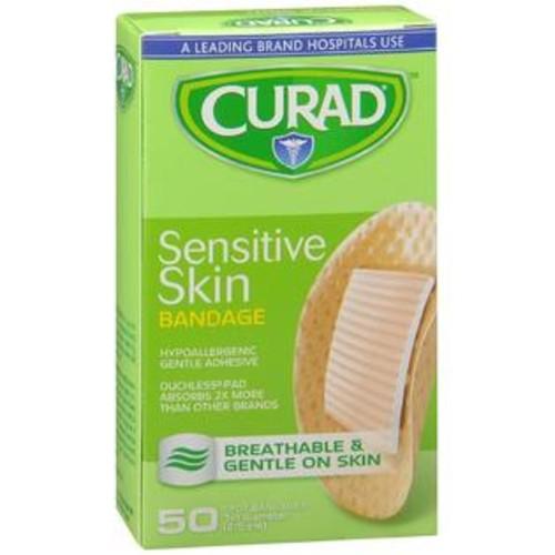 Curad Sensitive Skin Bandages Spot, 50 Count