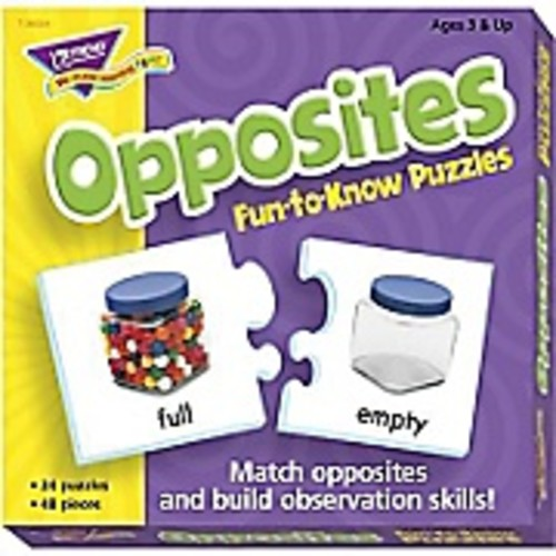 Trend Enterprises Fun-to-Know Puzzle, Opposites