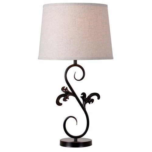 Kenroy Home Kota 26.5 in. Oil-Rubbed Bronze Table lamp