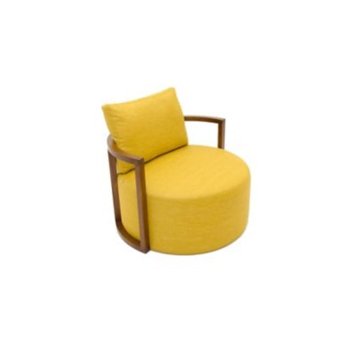 B&T Design Kav Fabric Leather Lounge Chair