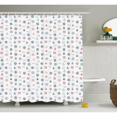 Harriet Bee Eboni Nautical Decor Shower Curtain; 69'' H x 70'' W