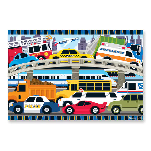 Melissa and Doug Kids Toy, Traffic Jam 24-Piece Floor Puzzle
