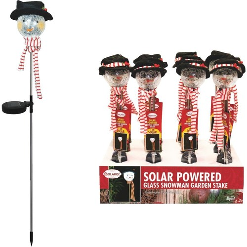 Solaris LED Snowman Holiday Garden Stake - SLL888BB-12