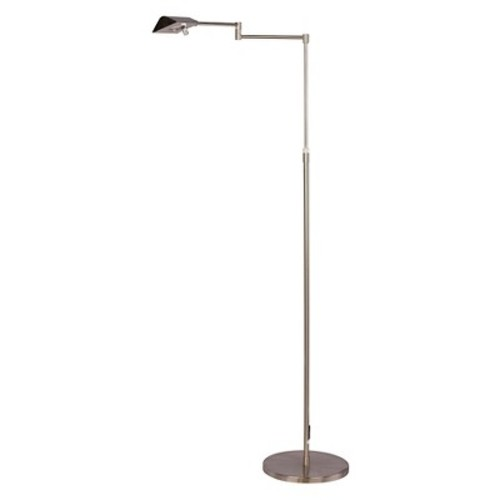 Fangio Lighting 53.75-Inch Adjustable LED Metal Floor Lamp in Satin Chrome