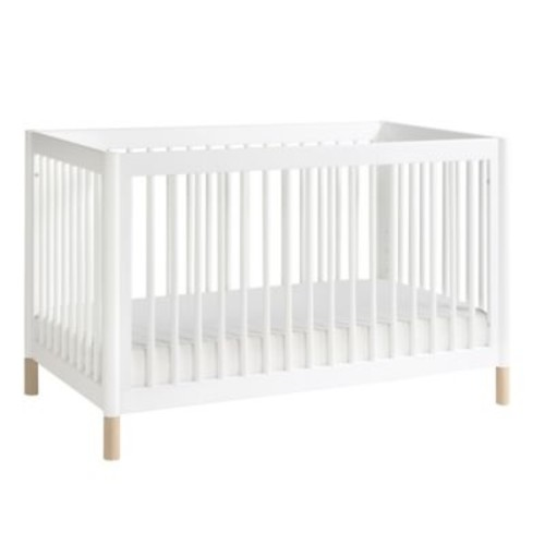 Babyletto Gelato 4-in-1 Convertible Crib with Toddler Bed Conversion Kit in White