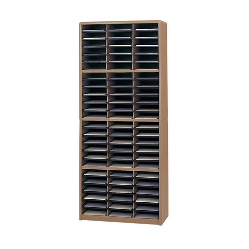 Safco Products 7131MO Value Sorter Literature Organizer, 72 Compartment, Medium Oak [Medium Oak]