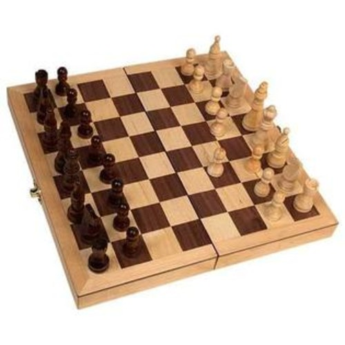 John N. Hansen Co. Deluxe 18-inch Folding Chess Set
