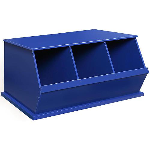 Badger Basket Three Bin Storage Cubby - Blue