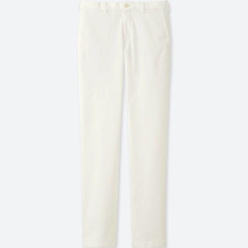 MEN SLIM-FIT CHINO FLAT FRONT PANTS