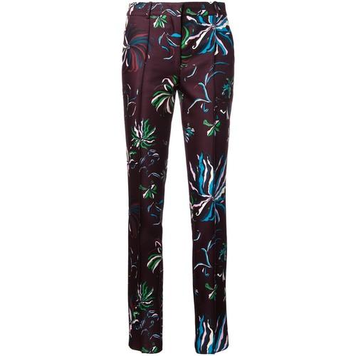 EMILIO PUCCI Floral Print Slim Fit Trousers