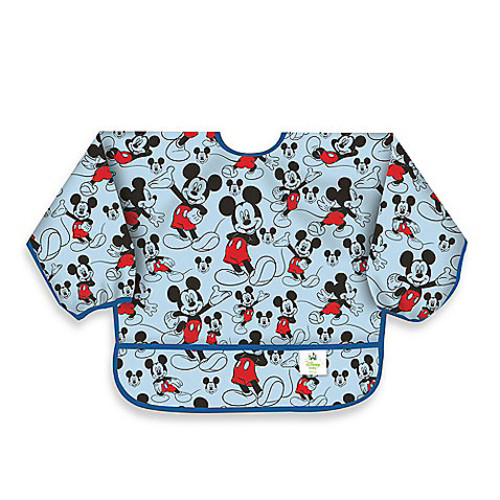 Disney Baby Mickey Mouse Classic Waterproof Long Sleeved Bib from Bumkins