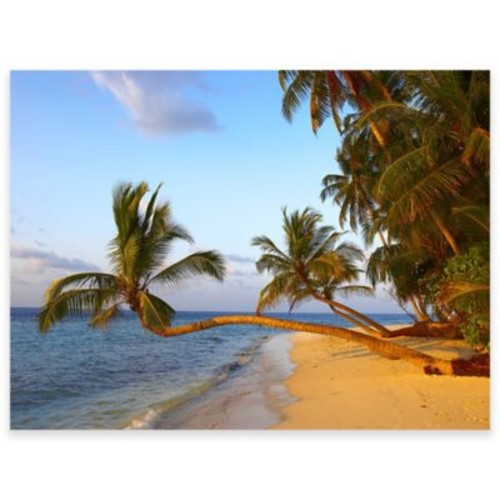 Golden Palms Outdoor All-Weather Canvas Wall Art