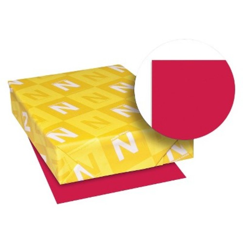 Neenah Paper Astrobrights Colored Paper, 24 lb - Red (500 Sheets Per Ream)